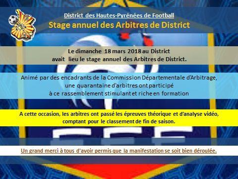 Stage D Arbitres Mars 2018 District De Football Des Hautes